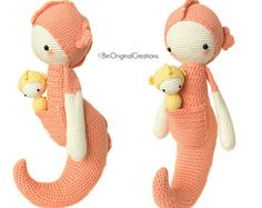 Amigurumis Caballitos A Crochet : Caballito de mar sepp u lalylala patrón de crochet seahorses