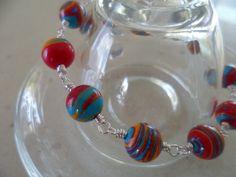 Original Turkey turquoise multicolour bead bracelet by tcupcreations, $15.00