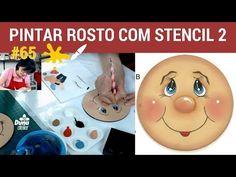 COMO PINTAR ROSTO 2: STENCIL OLHOS BOCAS DUNA ATELIER | Pintando Com o ❤ #64 | TÂNIA MARQUATO - YouTube