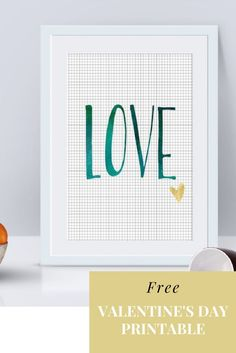 Great alternative to your typical red and pink Valentine's Day decoration. This watercolor LOVE with small faux gold heart will add a simple decoration for your Valentine's Day.