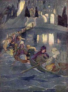 Elenore Abbott, illustration for The Twelve Dancing Princesses in Grimms' Fairy Tales, New York: C. Scribner's Sons, 1920.