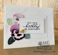 Homemade Birthday Cards, Homemade Cards, Flower Stamp, Flower Cards, First Communion Cards, Make Your Own Card, Stampin Up Catalog, Pretty Cards, Stamping Up
