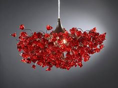Everything this man makes is gorgeous. GORGEOUS. Red roses. Chandeliers.. $240.00, via Etsy.