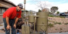 amazing homemade gasifier uses wood pellets to run generator -- renewabl. amazing homemade gasifier uses wood pellets to run generator -- renewabl. Camping Survival, Survival Prepping, Emergency Preparedness, Survival Stuff, Renewable Energy, Solar Energy, Wood Gasifier, New Energy Source, Waste To Energy
