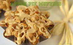 The Café Sucré Farine: Apple Pie Muffins w/ Oatmeal Crumble & Caramel Drizzle