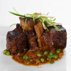 Mario Batali's Beer Braised Beef Short Ribs with Snow Pea Salad