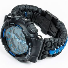 Thin Blue Line Paracord - LEO Inspired Trilotac Collaboration - GA-100 G-Shock.