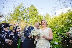 Confetti at Reid Rooms Wedding Ceremony Room by Anesta Broad Photography