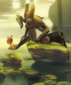 Prowl and Sari from Transformers Animated. Aww I miss this show