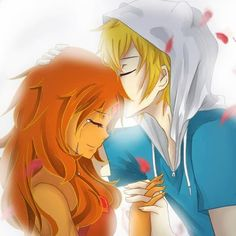 finn and flame princess are adorable