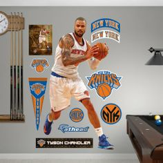 NBA Tyson Chandler Fathead Wall Graphic - http://weheartnyknicks.com/ny-knicks-fan-shop/nba-tyson-chandler-fathead-wall-graphic
