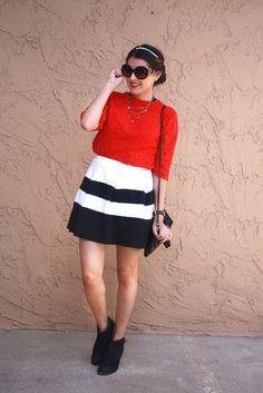Red & Stripes - Petite Fashion Monster