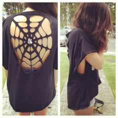 Easy DIY cut-out shirts! by thisblackbirdsnest.blogspot.com