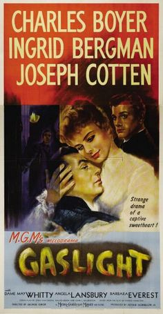 Boyer as a scheming, murderous cad after a dress laden with jewels that belonged to his innocent wife's (Bergman) aunt.