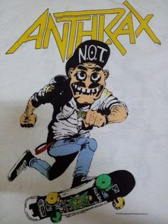 VINTAGE VTG ANTHRAX SUICIDAL TENDENCIES 1987 SIGNATURE CONCERT TOUR TEE T SHIRT