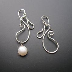 Sterling Silver DANCING PAISLEY Dangle Earrings / Interchangeable earrings