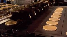 And a machine that mass produces sweet, delicious pancakes: | 22 GIFs Guaranteed To Be The Most Interesting Things You See Today