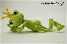 Вязаные лягушки-идеи и описания