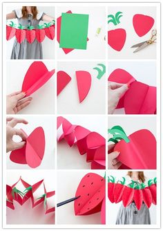 The best kind of party decor is the kind that's easy to store. This strawberry garland folds flat so you can pack it away and take it back out every summer for all your picnics and parties. 1st Birthday Party For Girls, Picnic Birthday, First Birthday Decorations, First Birthday Themes, Birthday Diy, Birthday Banners, Birthday Photos, Birthday Invitations, Birthday Ideas