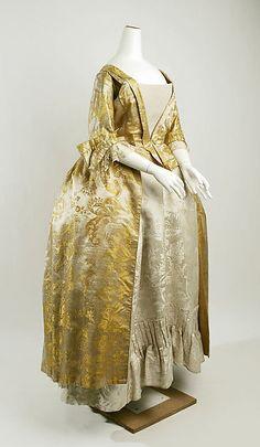 Dress - Dress Date: second half 18th century Culture: American Medium: silk Dimensions: Length: 52 in. (132.1 cm) Credit Line: Gift of Helen L. Latting, 1936