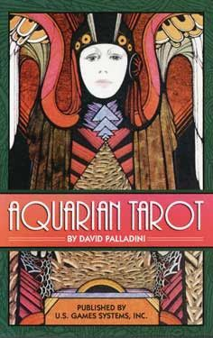 Inspired by the Art Deco artistic style, the Aquarian Tarot is has long been popular, heralded as the deck that brought medieval symbolism into the modern, Aquarian age. 8 page booklet included. 78 ca