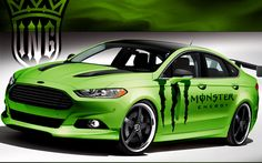 The new 2013 Ford Fusion will have a huge presence this year in the Blue Oval's SEMA show display. Monster Energy, Ford Mustang, Ford Fusion Custom, Ford Focus Sedan, Ford 2015, 2013 Ford Fusion, Races Style, Latest Cars, My Ride