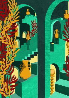 Illustration Architecture Céramique Deborah Desmada