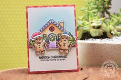 Ella's Cards: Sunny Studio Stamps Jolly Gingerbread Christmas Card by Eloise Blue