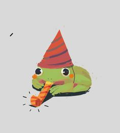 party froggo Pretty Art, Cute Art, Cute Drawings, Animal Drawings, Frog Art, Cute Frogs, Dibujos Cute, Frog And Toad, Art Inspo