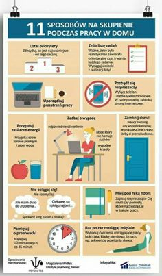 How to stay focused when working from home - infographic Languages Online, Foreign Languages, College Checklist, Fit Girl, E Mc2, Classroom Language, Study Motivation, Study Tips, Self Development