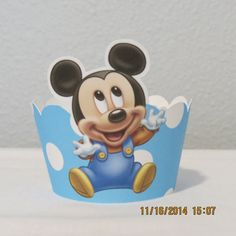 Hey, I found this really awesome Etsy listing at https://www.etsy.com/listing/217774662/baby-mickey-cupcake-wrappers-set-of-12