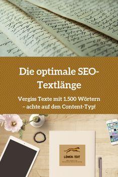 Über die optimale Textlänge wird in der Suchmaschinenoptimierung viel diskutiert. Wie lang muss ein SEO-Text sein, um gut im Google-Ranking abzuschneiden? Ich verrate es dir: es genügt...  #seo #suchmaschinenoptimierung #content-marketing #online-texten