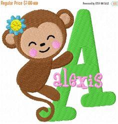 He encontrado este interesante anuncio de Etsy en https://www.etsy.com/es/listing/155813098/sale-65-off-monkey-girl-monogram-fonts