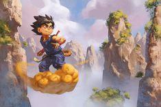 Goku, Dragon Ball artwork by Ian.
