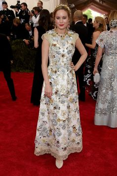 Brie Larson in Dolce & Gabbana. See all the looks from the 2015 Met gala.