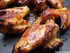Chicken wings caramélisés au miel et à l'orange »