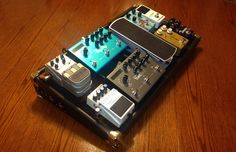 My own custom made (by me) pedalboard with Neutrik Locking jacks and IEC power inlet