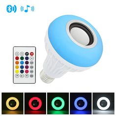 Smart LED Bulb with Audio Speaker  Price: 16.08 & FREE Shipping  #gadgets Bluetooth, Speaker Price, Light App, Smart Lights, App Remote, Smart Home Technology, Light Music, Audio Speakers, Works With Alexa