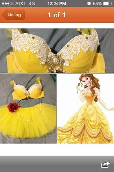 [this is absolutely not a Halloween costume. This is really hideously tacky lingerie] Princess Belle Inspired Rave Halloween costume Rave Halloween Costumes, Halloween Outfits, Belle Halloween, Rave Gear, Fantasias Halloween, Princess Belle, Disney Princess, Rave Festival, Halloween Disfraces