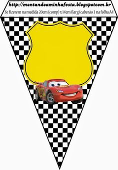 Cars: Invitations and Free Party Printables.