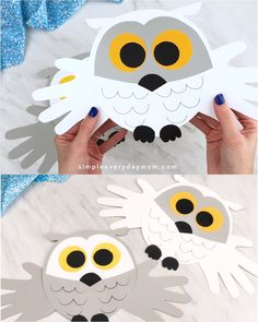 projects Handprint Snowy Owl Craft Looking for a fun winter craft idea for the kids to make? This easy handprint snowy owl craft is simple and cheap, plus it comes with a free template! Kids Crafts, Bear Crafts, Valentine Crafts For Kids, Animal Crafts For Kids, Winter Crafts For Kids, Preschool Crafts, Holiday Crafts, Diy And Crafts, Paper Crafts