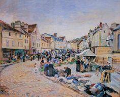 Ludovic PIETTE - Le marché aux légumes, Pontoise, place du Petit Martroy