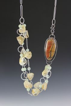 Red Creek Jasper and Citrine necklace...Deb Fanelli