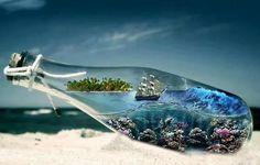 Ocean in a bottle.