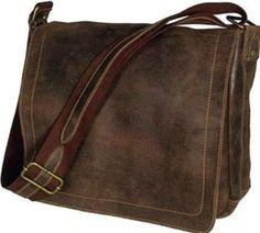 Amazon.com: David King & Co Large Distressed Leather Laptop Messenger: Clothing