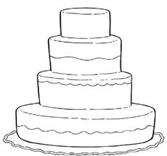 Wedding Cake Coloring Pages For Kids