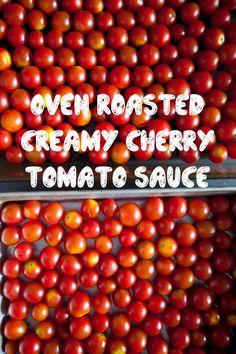 Cherry Tomato Sauce Oven Roasted Creamy Cherry Tomato Sauce, a sweet and creamy tomato sauce using cherry tomatoes.Oven Roasted Creamy Cherry Tomato Sauce, a sweet and creamy tomato sauce using cherry tomatoes. Cherry Tomato Recipes, Cherry Tomato Sauce, Tomato Sauce Recipe, Sauce Recipes, Veggie Recipes, Roasted Tomato Sauce, Garden Tomato Recipes, Dinner Recipes, Homemade Tomato Sauce