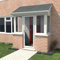 Sociable submitted entrance porch design Check Out now Porch Uk, Front Door Porch, Porch Doors, Front Porch Design, House With Porch, House Front, Door Entry, Front Doors, Enclosed Front Porches
