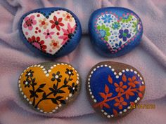 Painted Rocks HEARTS by PlaceForYou on Etsy