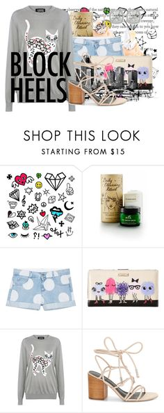 """The Cat's Meow"" by dizzier ❤ liked on Polyvore featuring MOA Magic Organic Apothecary, STELLA McCARTNEY, Kate Spade, Markus Lupfer, Rebecca Minkoff and Frederic Sage"